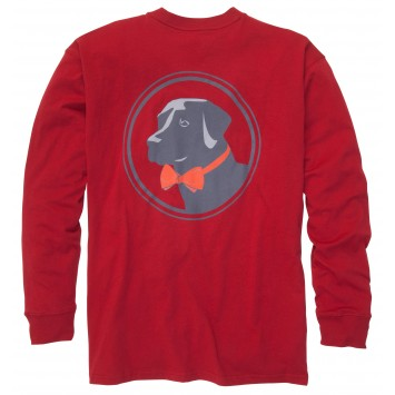 Original Tee - Madras Red Long Sleeve